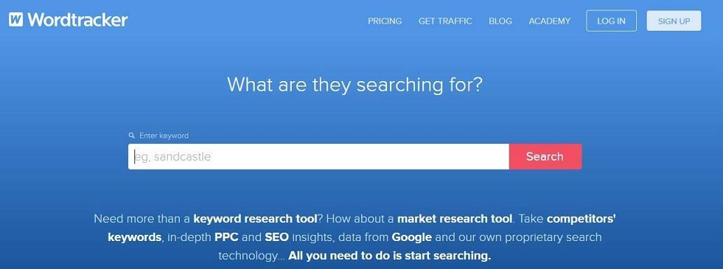 YouTube keyword research tool Wordtracker