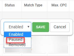 adwords pause keyword alert for unqualified keywords
