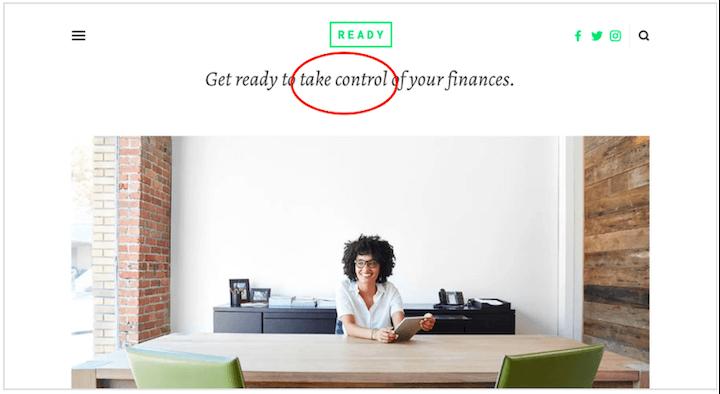 emotional marketing trigger words: take control