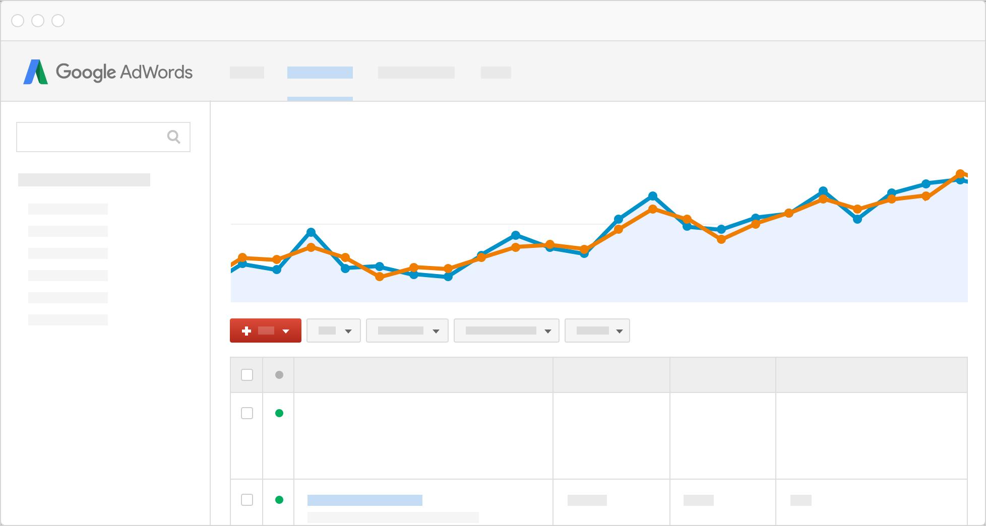 Google Ads user interface