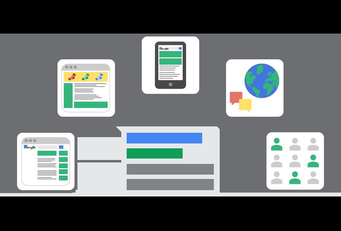 Online advertising Google AdWords illustration