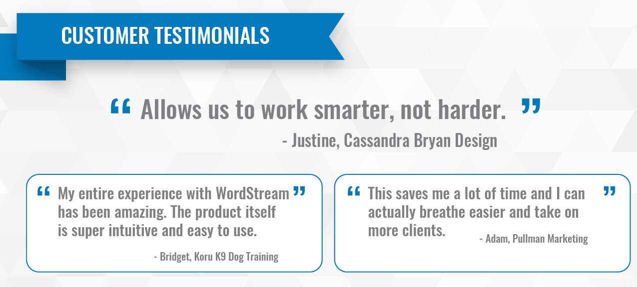 wordstream client reviews