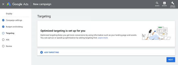 google ads updates september 2021: optimized targeting default for display campaigns