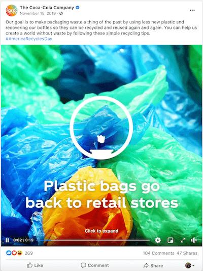 november marketing ideas america recycles day facebook post