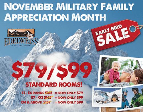 november marketing ideas military family sale