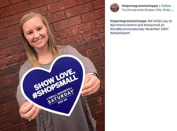 november marketing ideas: shop small instagram post