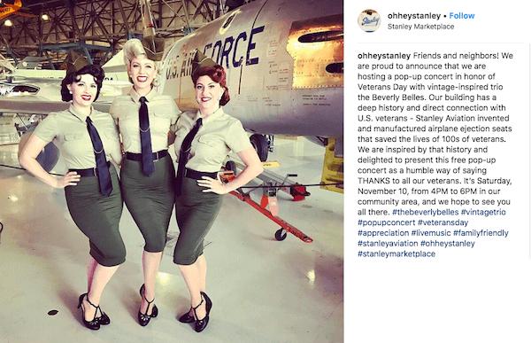 november marketing ideas: vintage instagram post for veterans day
