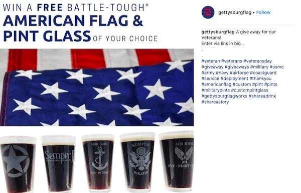 november marketing ideas: veterans day instagram post