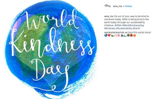 november marketing ideas: world kindness day instagram post