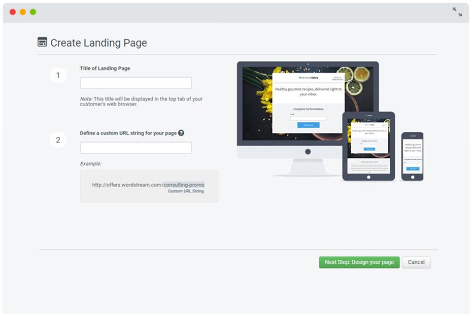Create Landing Page